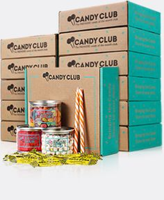 Subscription to Candy Club... Monthly package send with over 5 lb of candy in each box! Yum!