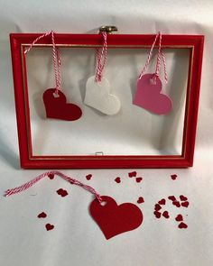 Heart gift tags made from #recycled paper in the USA. Red, white and pink or ask and we can make a #custom color for you.