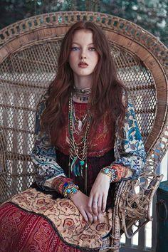 Bohemian styling.