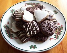 Lebkuchen - German Soft Chocolate Covered Gingerbread Cookies - for Christmas