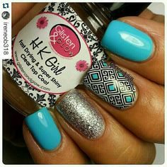 Stamped accent nails #Stampart #polishednails #stamper #stampplates