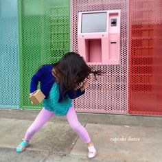 A very colourful atm, that dispenses CUPCAKES!