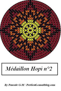 Peyote bead pattern Hopi