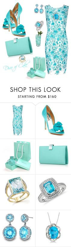 Mademoiselle in blue topaz by Diva of Cake featuring mode, Precis Petite, Badgley Mischka, Tiffany & Co., Blue Nile, Allurez and Bloomingdale's