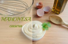 ANA GARÍN PINEDA: La salsa Mahonesa Panna Cotta, Icing, Salsa, Ethnic Recipes, Desserts, Food, Cooking School, Restaurants, Homemade