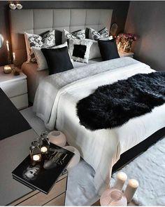 bedroom, black, and home resmi