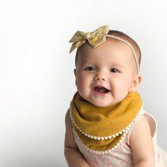 Pom Pom Bib Gift Set   2-pk   Baby Girl Bibs   Purple + Mustard