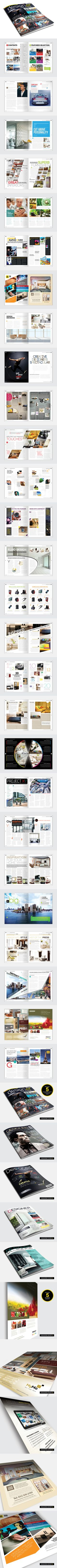 Magazine Template - InDesign 56 Page Layout V2 by BoxedCreative , via Behance