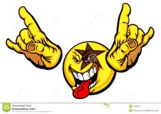 Rock Star Smiley Face Emoticon - Download From Over 38 Million High Quality Stock Photos, Images, Vectors. Sign up for FREE today. Image: 19292131