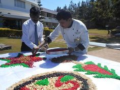 Cake Mixing with our guests and staff