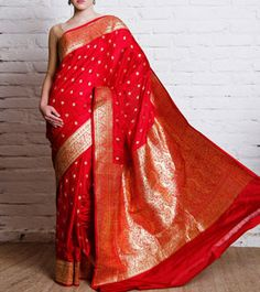 Maroon Katan Silk Banarasi Saree Indian Attire, Indian Wear, Indian Dresses, Indian Outfits, Benarsi Saree, Katan Saree, Banaras Sarees, Designer Silk Sarees, Trendy Sarees