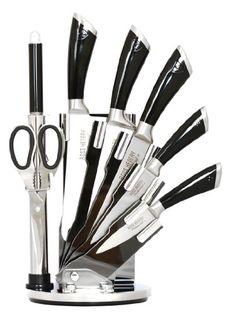Amazon.de: 8 mảnh hoàn toàn mới Kitchen Knife Set by Ross Henery Professional thép không gỉ ở một đứng đặc biệt trong acrylic