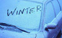 Ice-Proof Your Windows With Vinegar     When frost is on the way just fill a spray bottle with three parts vinegar to one part water and spritz it on all your windows at night. In the morning, they'll be clear of icy mess. Vinegar contains acetic acid, which raises the melting point of water---preventing water from freezing!