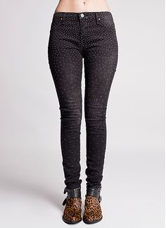 Instaglam Stud Faded Black Denim Skinny Jeans by Blank NYC | Edge of Urge