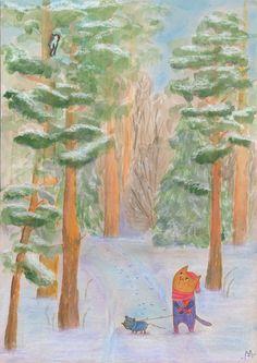 По зимнему лесу (In winter forest)
