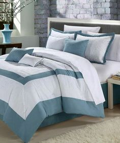 Take a look at this Blue Seashell Comforter Set by Chic Home Design on #zulily today!