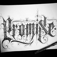 Tattoo Lettering Alphabet, Tattoo Lettering Design, Tattoo Fonts Cursive, Chicano Lettering, Graffiti Lettering Fonts, Tattoo Design Drawings, Aztec Tattoo Designs, Family Tattoo Designs, Tattoo Designs And Meanings