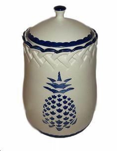 Pineapple Pattern Cookie Jar FREE SHIPPING