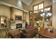 Living room in Iron Horse Lodge, The Village at Northstar, Lake Tahoe, California