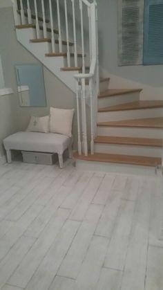 DIY floor. Handpainted faux wood panels. Scandinavian feel Diy Flooring, Wood Paneling, Hand Painted, Scandinavian, Projects, Inspiration, Ideas, Home Decor, Log Projects