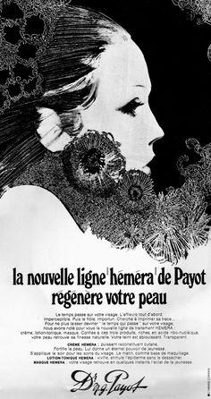 """Dr N.G Payot, """"Crème Héméra"""" Cosmetic Ad, 1970"""