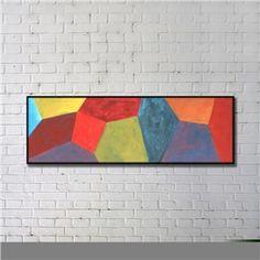 Leinwandbild Abstrakt Farbig Digitaldruck mit Schwarze Rahme-B