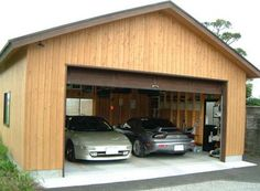 Wooden Carports, Wooden Garages, Garage House, Dream Garage, Garage Atelier, Automotive Shops, Garage Design, Car Parking, Quick Garden