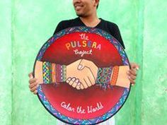 'An amazing piece of pottery made for the Pulsera Project by one of our artist friends here in Granada! Salvaje!'