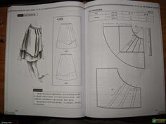 Design and style skirte--etekler - modelist kitapları Dress Patterns, Sewing Patterns, Pattern Skirt, Pola Rok, Modelista, Japanese Sewing, Pattern Drafting, Sewing Tutorials, Arts And Crafts