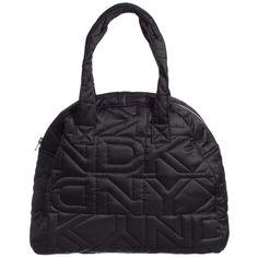Black Padded Logo Bag, DKNY, Girl