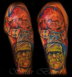 #chucky and #Frankenstein #tattoo