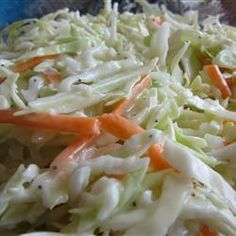 """The best """"restaurant style"""" coleslaw recipe i have found! I usually make it the night before I plan on serving it. Creamy Cole Slaw Recipe, Coleslaw Recipe Easy, Homemade Coleslaw, Creamy Coleslaw, Coslaw Recipes, Smoker Recipes, Polish Recipes, Recipies, Sweet Restaurant"""