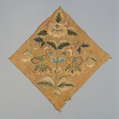 Textil con aves confrontadas, Dinastia Tang (618-907), China