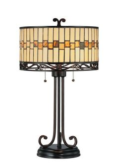 Lite Source LS-C41154 Tiffany Two Light Up Lighting Table Lamp from the Omora Co Dark Bronze Lamps Table Lamps