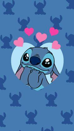 Best how to draw stitch and angel ideas. Cartoon Wallpaper Iphone, Disney Phone Wallpaper, Iphone Background Wallpaper, Cute Cartoon Wallpapers, Screen Wallpaper, Wallpaper Quotes, Kawaii Wallpaper, Disney Stitch, Lilo Stitch