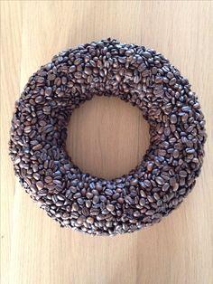 Coffee beans – Famous Last Words Fall Wreaths, Door Wreaths, Christmas Wreaths, Coffee Bean Decor, Coffee Beans, Christmas Decor Diy Cheap, Christmas Decorations, Diy Wreath, Burlap Wreath