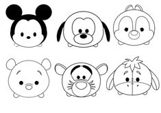 Cute Tsum Tsum Coloring Pages. Welcome to the Tsum Tsum Coloring Pages! Okay, what do you know about Tsum Tsum? It is better for you to know that Tsum Tsum is t Love Coloring Pages, Princess Coloring Pages, Disney Coloring Pages, Printable Coloring Pages, Coloring Books, Coloring Sheets, Free Coloring, Kawaii Disney, Cute Easy Drawings