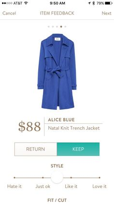 I AM IN LOVE WITH THIS TRENCH!!! Even more if it was nude/tan!! Stitch fix stylist hint hint ;)