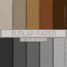 10 Burlap Digital paper  Burlap Paper with burlap by DigiWorkshop