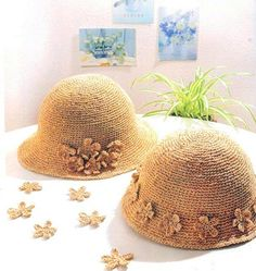crochet hat women crochet summer sun hats with by Magicdoll