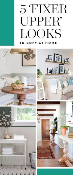5 'Fixer Upper' Looks You Can Totally Copy at Home  #purewow #home #renovation #decor