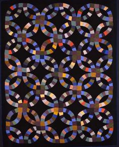 softpyramid:    Mrs. Andy G. Byler Atlantic, Pennsylvania area quilt 1930–1940 Cotton, wool, linen, and rayon