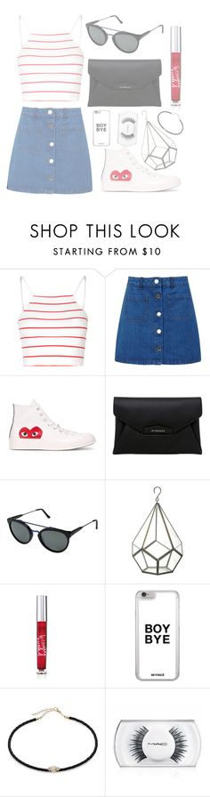 """Made in the A.M"" by mode-222 ❤ liked on Polyvore featuring Glamorous, Miss Selfridge, Play Comme des Garçons, Givenchy, RetroSuperFuture, Beauty Rush, Jacquie Aiche and MAC Cosmetics"