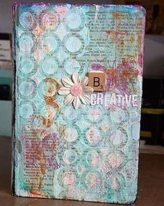 A journal Cover created by May Flaum using the kit designed by Shari Carroll for Simon Says Stamp.  stamptember 2013