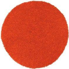 Amazon.com: Orange 5x5' Shagadelic Chenille Twist Rug: Home & Kitchen