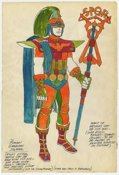 """ucresearch: """" xmanrcj: """" xcyclopswasrightx: """" So get this, Jack Kirby provided the costume design for a UC Santa Cruz production of Julius Cesar. """" ucresearch for Jack Kirby's bday """" Amazing. Kirby Character, Character Design, Julius Caesar Costume, Thor, Famous Superheroes, Jack Kirby Art, Jack King, Medieval, Shakespeare Plays"""