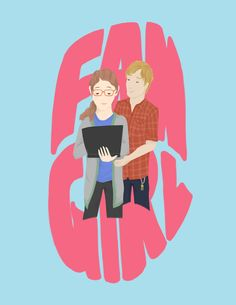Levi and Cath from Fangirl by Rainbow Rowell I don't know why, but I always pictured Cath with curly hair.