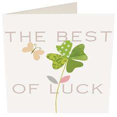 BuyCaroline Gardner The Best Of Luck Card Online at johnlewis.com