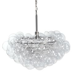 Regina Andrew Bubbles Chandelier in Clear 16-1044CLR Chandelier Design, Bubble Chandelier, Wagon Wheel Chandelier, Modern Chandelier, Chandelier Lighting, Chandelier Ideas, Crystal Chandeliers, House Lighting, Bedroom Lighting
