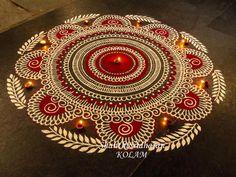 30 Creative Kolam Rangoli Designs for this Festival season Indian Rangoli Designs, Rangoli Designs Latest, Simple Rangoli Designs Images, Rangoli Border Designs, Colorful Rangoli Designs, Beautiful Rangoli Designs, Latest Rangoli, Rangoli Colours, Rangoli Patterns